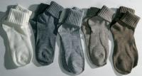 Schafwollsocken mit Umschlagrand - Alpaka Socks