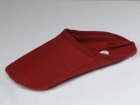 Überpantoffel - genäht, rot oder braun