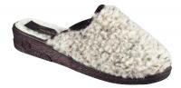 Damenpantolette Schurwolle mit 25-mm-Keil