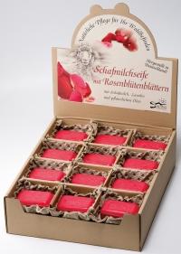 Saling Schafmilchseife mit Rosenblütenblättern rot  100g