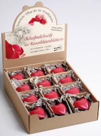 Saling Schafmilchseife Herz rot 65 g