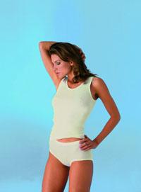 Damenachselhemd Flachrand -con-ta- Angora/Baumwolle