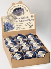 Saling Schafmilchseife Lavendelblüten 100 g  im blauen Organzasäckchen BDIH zertifiziert